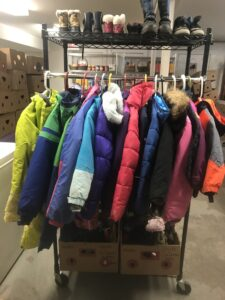 Donated children's clothing